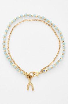 Women's Astley Clarke 'Biography' Beaded Bracelet - Agate/