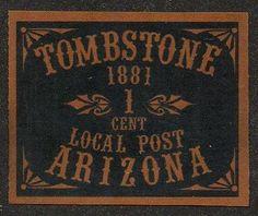 1881 Tombstone Arizona 1 Cent Post