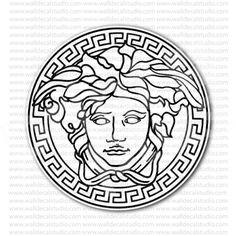 Versace Medusa Emblem Sticker