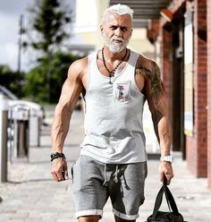 your beard the right way, with us. Grow your beard the right way, with us. Grow your beard the right way, with us. Fitness Man, Fitness Motivation, Health Fitness, Health Diet, Cycling Motivation, Hommes Sexy, Mature Men, Older Men, Hair And Beard Styles