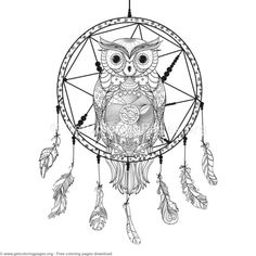 Coloring pages simple coloring pages dream catcher coloring pages 4 owl dream catcher coloring pages dream catcher coloring pages coloring pages native Easy Coloring Pages, Animal Coloring Pages, Coloring Books, Owl Dream Catcher, Dream Catchers, Dream Catcher Coloring Pages, Mandalas Drawing, Infinity Tattoos, Owl Patterns