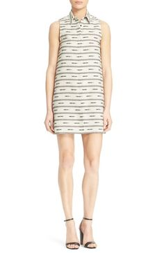 Alice + Olivia 'Isabelle' Sleeveless Cotton & Linen Shirtdress available at #Nordstrom