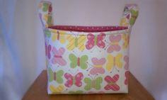 Butterflies fabric storage basket/bin
