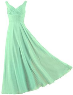 ANTS Formal Straps Pleated Long Straight Bridesmaid Dresses Prom Homecoming Size 2 US Pale Green ANTS