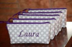 Personalized Bridesmaid Gift / Small Makeup by GisellasDesigns,