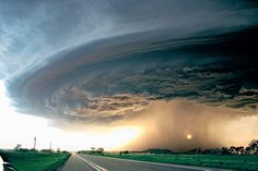 View of a downburst or rainshaft from a storm in NE, 2004.