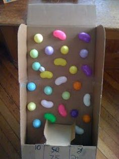 Easter Egg Plinko Fun - Pinned by #PediaStaff.  Visit http://ht.ly/63sNt for all our pediatric therapy pins