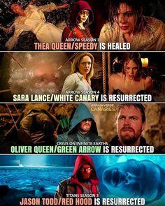 Arrow Season 3, Season 4, Dc Comics Series, White Canary, Thea Queen, Infinite Earths, Jason Todd, Red Hood, Green Arrow