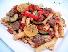 Italian Red Wine-Tomato Sausage & Vegetable Pasta