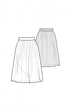 Easy Gathered Skirt - free sewing pattern from Pattern Runway