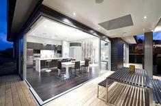 Open Plan Kitchen to Outdoor Area - Kitchen Design Ideas