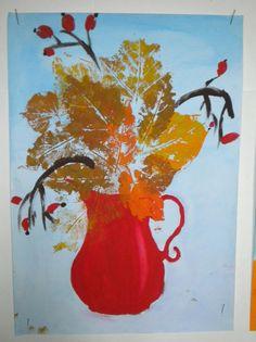 Rezultat iskanja slik za výtvarná výchova 6 podzim Fall Art Projects, School Art Projects, Art School, Autumn Crafts, Autumn Art, Diy And Crafts, Crafts For Kids, Learn To Paint, Art Education