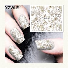 0.10$  Watch here - http://alif3m.shopchina.info/go.php?t=32662867258 - YZWLE  1 Sheet DIY Designer Water Transfer Nails Art Sticker / Nail Water Decals / Nail Stickers Accessories (YZW-163) 0.10$ #aliexpresschina