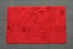 Crystal Solid Red Area Rug