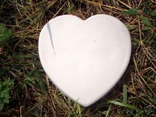Gostatue Heart stepping stone concrete mold plaster mold plastic casting mold