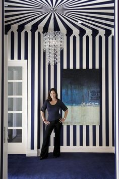 CEILING & WALL STRIPES: 45 Cool Ideas To Decorate Your Ceilings With Stripes | Shelterness