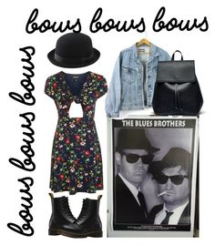 """1990's"" by julie-lg on Polyvore featuring Topshop, Dr. Martens, Uniqlo and Sole Society"