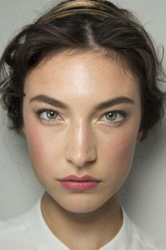 Referenced for eyebrow contouring, blush application. Sorta looks like milkmaid chic.