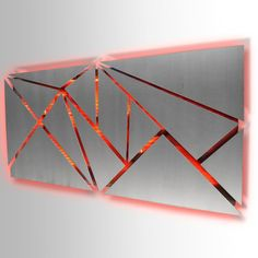 """Fracture"" Lighted Metal Wall Art Sculpture with LED Color Changing Li - Studio . Metal Sculpture Wall Art, Wall Sculptures, Metal Art, Led Art, Architecture Design, Geometric Wall Art, Color Changing Led, Art Abstrait, Art Mural"