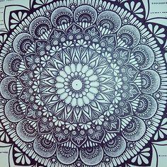 Finished with detail  xxx #mindfulness #geometric #creative #zen #artwork #pen…