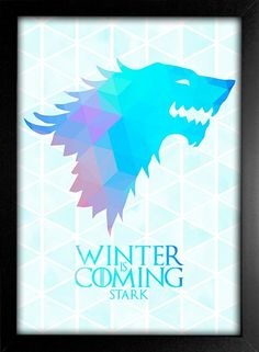 Poster Game of Thrones - Winter is Coming - Stark - Encadreé Posters