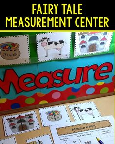 Measurement center with a Jack & the Beanstalk theme would be a perfect addition to your fairy tale, plants, or measurement unit. Students will practice measuring to the nearest quarter inch. Differentiated and easy to set up. Preschool Math, Math Classroom, Kindergarten Math, Preschool Ideas, Traditional Tales, Traditional Stories, Fractured Fairy Tales, Fairy Tales Unit, Fairy Tale Theme