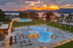 The sun is setting over Louis Kerkyra Golf, Corfu