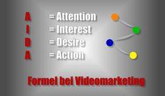 AIDA-Formel auf bei Videomarketing bzw. Verkaufsvideos nutzen... #AIDAformel #videomarketing #verkaufsvideos