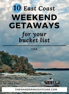 For the travel lovers who work full time, weekend getaways are the staple that helps us function in between longer vacations. There's no better way to start your work week after having been away for the weekend. As a former Bostonian (hello New England!) I've had my fair share of east coast weekend trips. To help my fe Weekend Getaways For Couples, Romantic Weekend Getaways, Weekend Vacations, Romantic Vacations, Vacation Ideas, Cheap Weekend Trips, East Coast Travel, East Coast Road Trip, Best East Coast Vacations