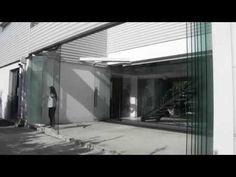 Tauro VD Sistema oculto para puertas plegables de vidrio matiasmx com) - YouTube