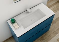 Strato collection by Inbani includes Corian®: a non-porous, homogeneous and very resistant material. #bathroom #design #washbasin