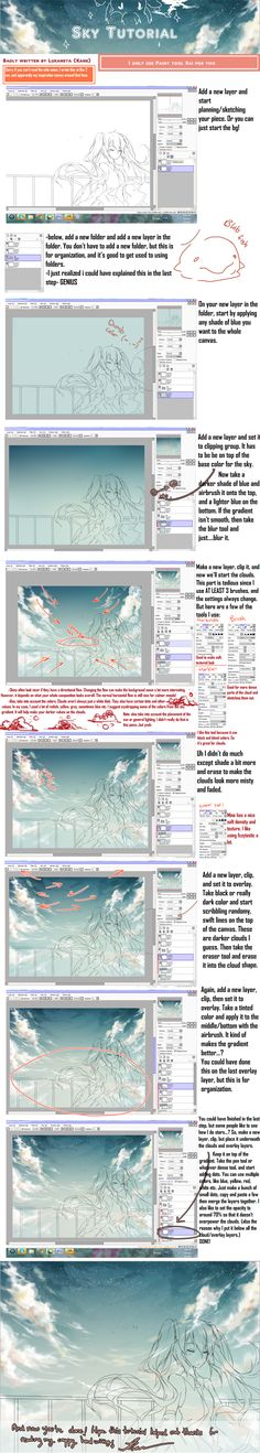 Sky Tutorial I think by Kanekiru.deviantart.com on @DeviantArt