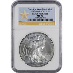 2017 W American Silver Eagle NGC MS-70West Point Star Label White Core