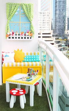 I can not handle how insanely cute and creative this is! A Playroom in the Sky | Damask Love