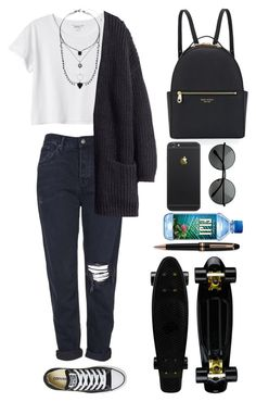 """Untitled #96"" by ziamsangelz on Polyvore featuring Topshop, Monki, Converse, H&M, Henri Bendel and Montblanc"