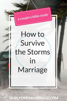 When stormy times arise in your marriage, what steps can you take to survive them? And is it possible for your relationship to become stronger because of them? This Couple's Bible Study looks at the steps God's Word tells us to take when storms come.   Simply One in Marriage.