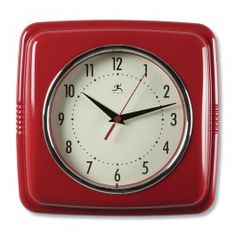 A Kitchen Update with Red Retro Clock or Other Country Clocks | Sturbridge Yankee Workshop