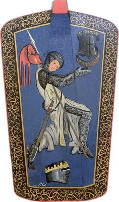 Modern painted pavise