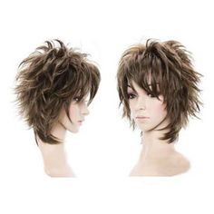 SY Fluffy Short Curly Light Brown Lady Full Wig New Stylish Short Women Hair Wig hairstyles for women layered bobs Short Shag Hairstyles, Short Hair Wigs, Very Short Hair, Short Hair With Layers, Short Hairstyles For Women, Wig Hairstyles, Pixie Haircuts, Hairstyles Videos, School Hairstyles