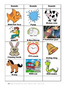 The CV-CVCV Apraxia Kit (29 pgs)-for toddlers and preschoolers with apraxia of speech, sd sequencing, & phon processes. Has pics & suggestions for vowels, sd cues, (CV-60 pics) and CVCV-(66 pics.) Vocab is simple for little ones. The pictures have been thoughtfully chosen based on age level and functional use. The J, TH, ZH & R sounds are not included in this kit. The Apraxia Word List (3 pages) - FREE - is a separate download at www.preschoolspeechie.com