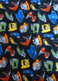 Cotton Fabric, Home Decor, Quilt, Construction Tools by Timeless Treasures, Fast Shipping