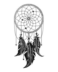 Printable Art Dreamcatcher Native American by happythoughtshop