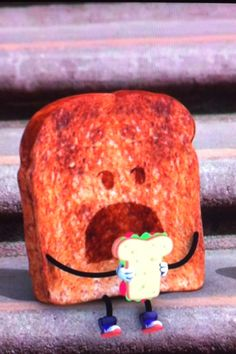 Toast from Amazing World of Gumball! I find that weird but funny and cute!