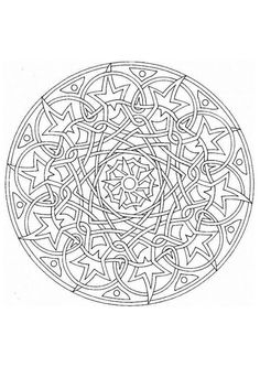 Detailed Coloring Pages For Adults   ... coloring pages in Mandalas ...  Detailed Mandala Coloring Pages For Adults