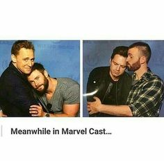 I saw the hiddlesworth: awww Saw the evanstan: *screeches*