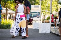 The Best Street Style From Afropunk; pussy pants
