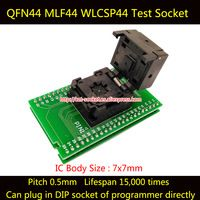 QFN44 MLF44 WLCSP44 to DIP44 Double-Board Programming Socket IC550-0444-010-G Pitch 0.5mm IC Size 7X7mm Test Socket Adapter