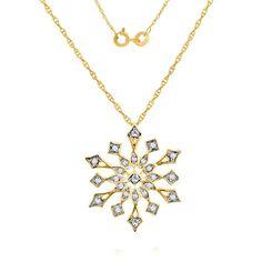 "0.08 ct Round D VVS1 Diamond Yellow Gold Finish Fashion Pendant w/ 18"" Chain #affinityhomeshopping #FashionPendant"