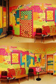 Post-it Wall.