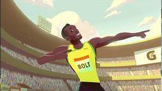 Usain Bolt : Un superbe court métrage animé racontant son histoire